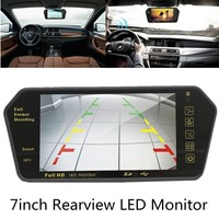 7 Inch TFT LCD Video MP5 bluetooth Car Rear View Parking Mirror Monitor + Reversing Car Camera+Remote Control for Car Monitors