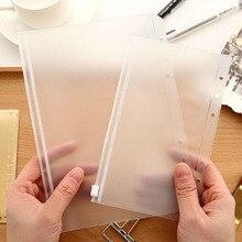 Folder Notebook Zipper-Bag Office-Supplies Loose-Leaf PVC A5/a6 6-Hole Children