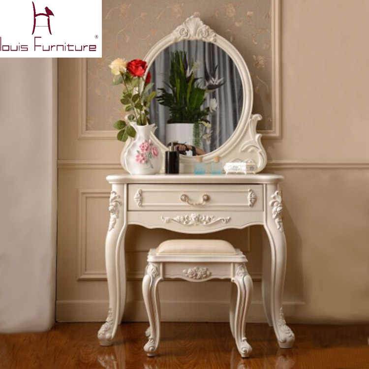 Astounding France Style Elegant Bedroom Furniture Ivory Dressing Table Gmtry Best Dining Table And Chair Ideas Images Gmtryco