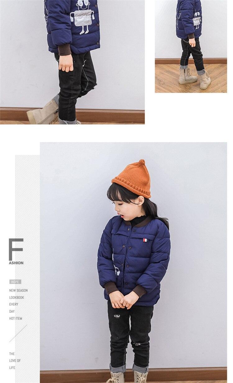 2018 Baby Boys Children Outerwear Coat Kids Jackets For Boy Girls Winter Jacket Warm Hooded Children Clothing Gray Khaki Red (10)