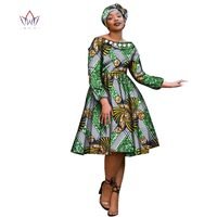 Plus Size Autumn 2017 Fashion African Women Dress Bazin Decorative Pearl Africa Clothes Dashiki Sexy Long