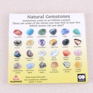 20 шт./компл. DIY натуральные камни Кристаллы и минеральный многоцветный органический материал Смешанные камни украшения кристалл для коллек...