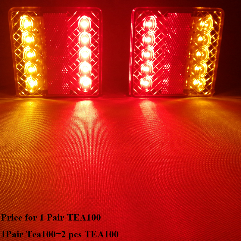 1 Pair AOHEWEI 12v 10 leds trailer light  brake stop position led light  indicator turn light waterproof Trailer Lamp tail light-in Truck Light System from Automobiles & Motorcycles