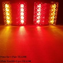1 par AOHEWEI 12 v 10 leds luz de freno del remolque posición Indicador de luz led luz de giro impermeable remolque lámpara la luz de la cola