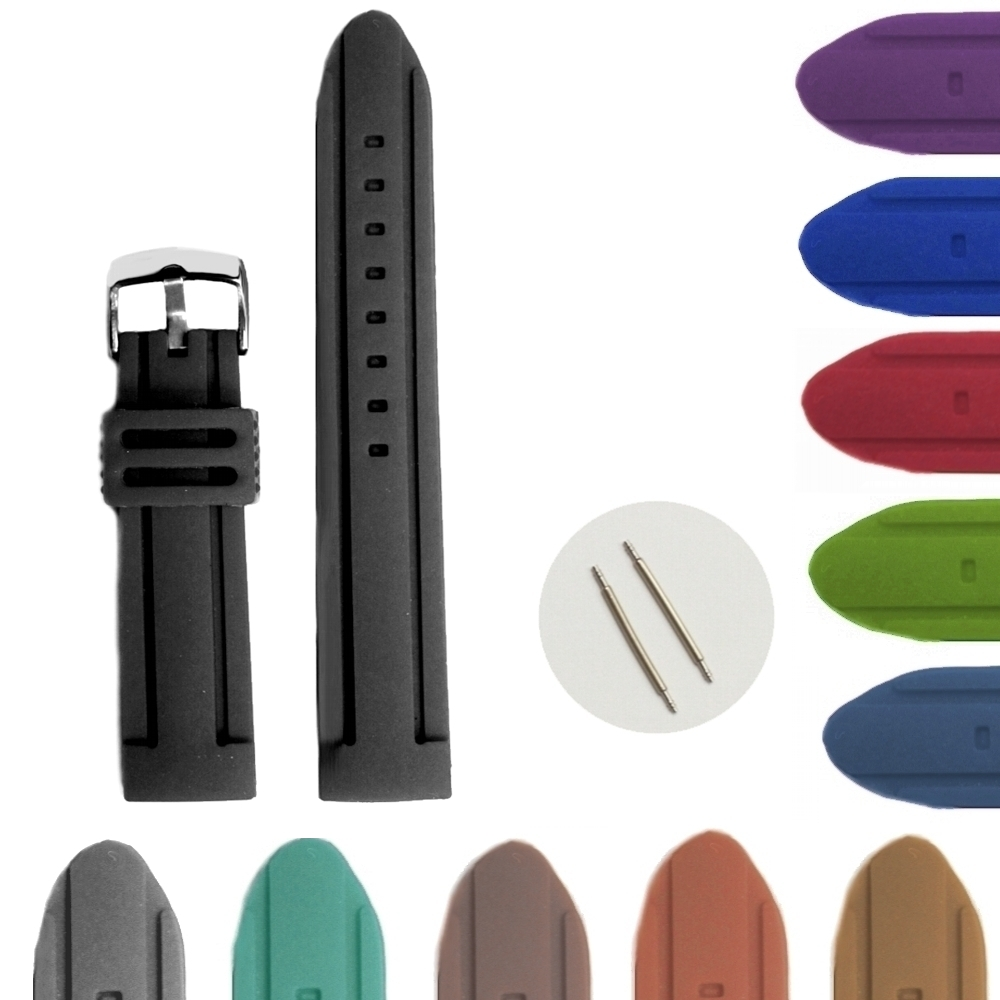 Wholesales 18Pcs /lots  22mm Black Silicone Jelly Rubber Ladies Men Watch Band Straps | Watchbands