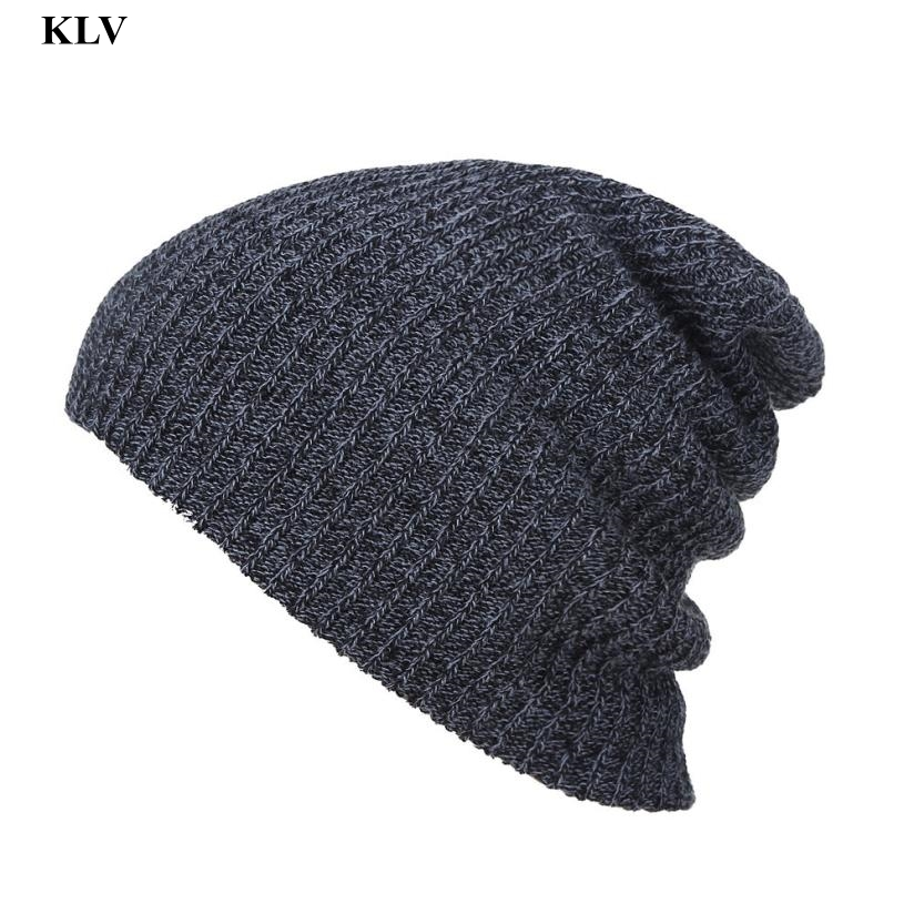 2016 Autumn Winter Hats Knitted Wool Skullies Beanie Hat Solid Gorros Hip Hop Beanies for Men and Women Hats Snow Caps Dec6 winter hats for women thick beanies gorros de lana mujer knitted wool skullies warm snapback hip hop cap bonnets en laine homme