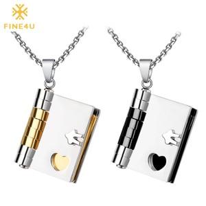 FINE4U N075 Couples Jewelry Ne