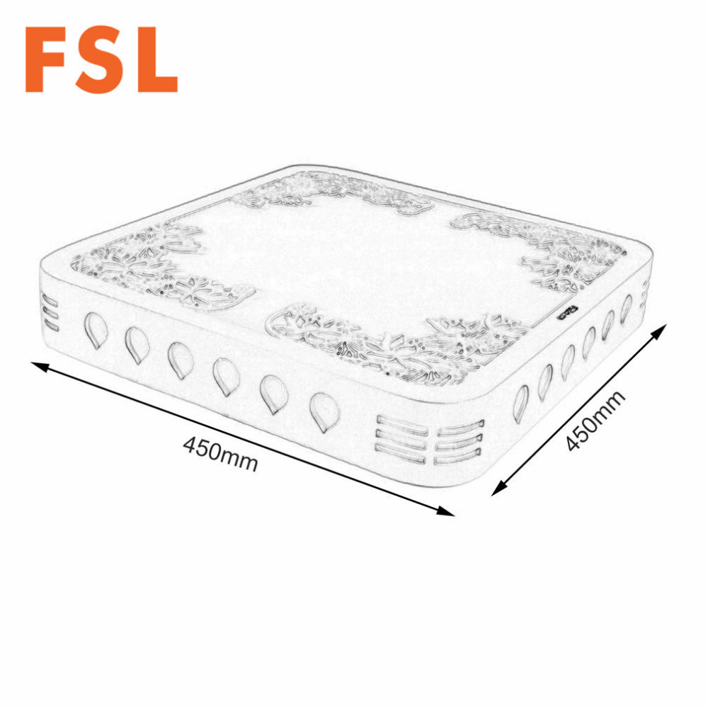 fsl led hollowed out carving flower pattern square ceiling light 3 stage toninglamp for living room bedroom dining hall 24w in ceiling lights from lights  [ 1000 x 1000 Pixel ]