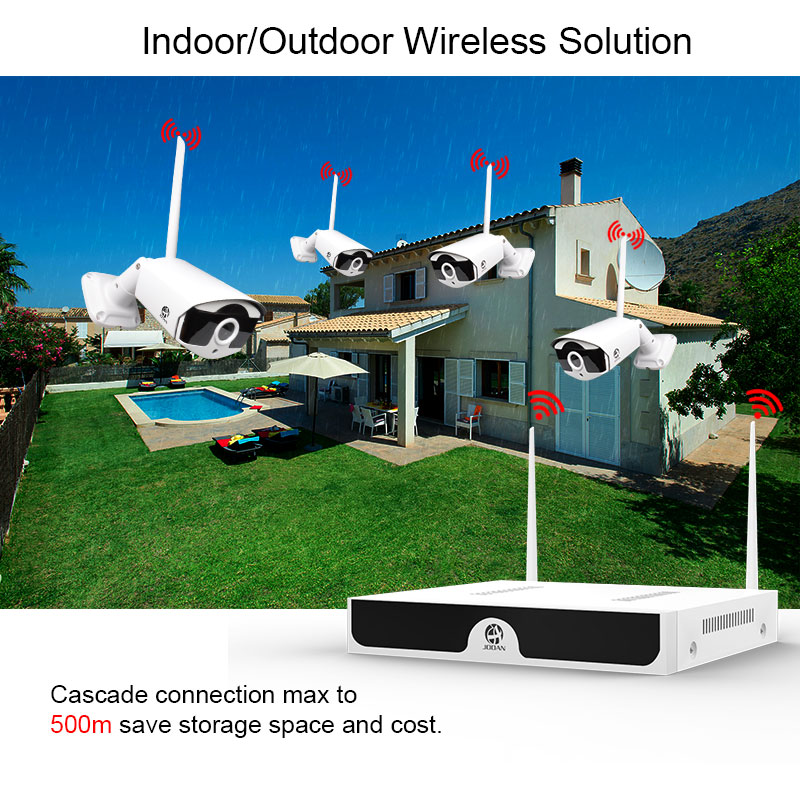 Image 5 - Wireless Video Surveillance H.265 8CH NVR 4CH Cameras Home Security  System DVR Kit IP Camera Outdoor Set HD CCTV System NVR Kit-in Surveillance System from Security & Protection