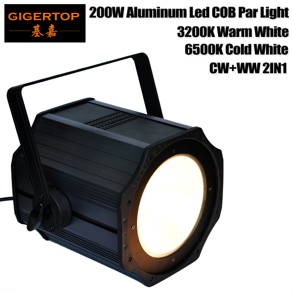 Gigertop TP-P67 200W Stage COB Led Par Light Aluminum Housing Profile Light 3200K Warm White/6500K Cold White/CW+WW 2IN1 CE ROHS 200w led follow spot light warm white cool white 2in1 rgbw 4in1 zoom dmx512 stage led profile light
