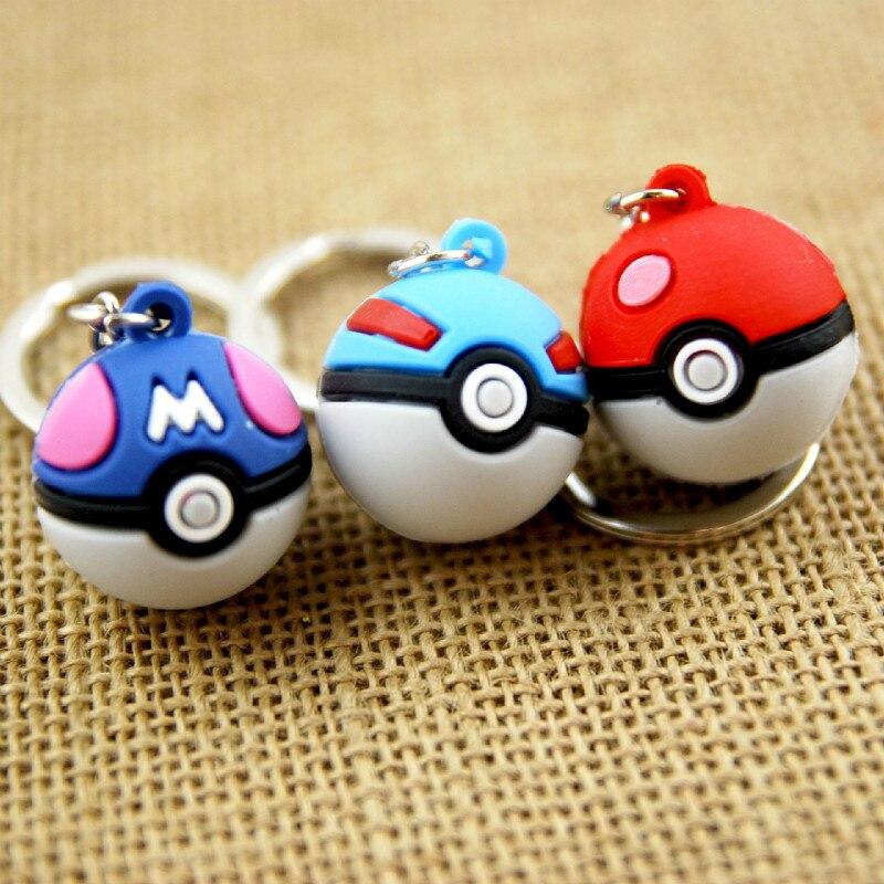Pokemon Keychain Bag Handbag Purse Charms Cute Go Ball Bell Pendant