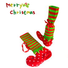 Christmas Stocking Red Wine Bottle Cover Bags Christmas giftBag Dinner Table Decoration Party XMAS Decors Stocking QW878891