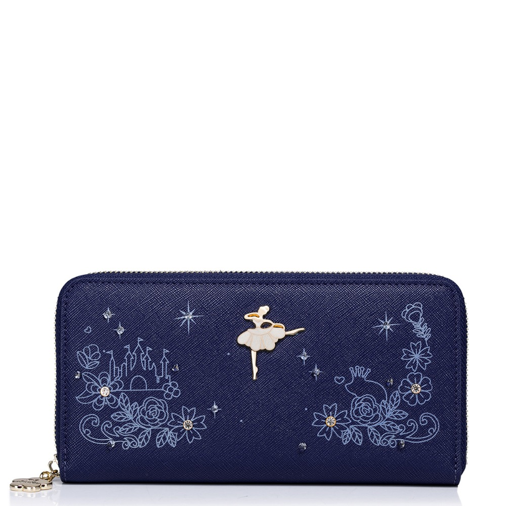 2017 New Arrived Noctilucent Printing Diamonds PU Women Leather Girls Ladies Long Zipper Wallets Cards Holder Clutches