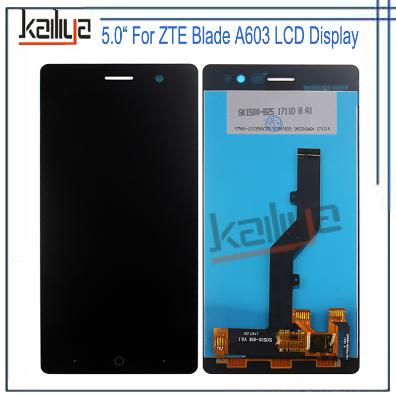 For ZTE Blade A603 LCD Display+5 Inch Black Touch Screen Digitizer Assembly Replacements For ZTE Blade A603 for zte blade a610 lcd display touch screen 100