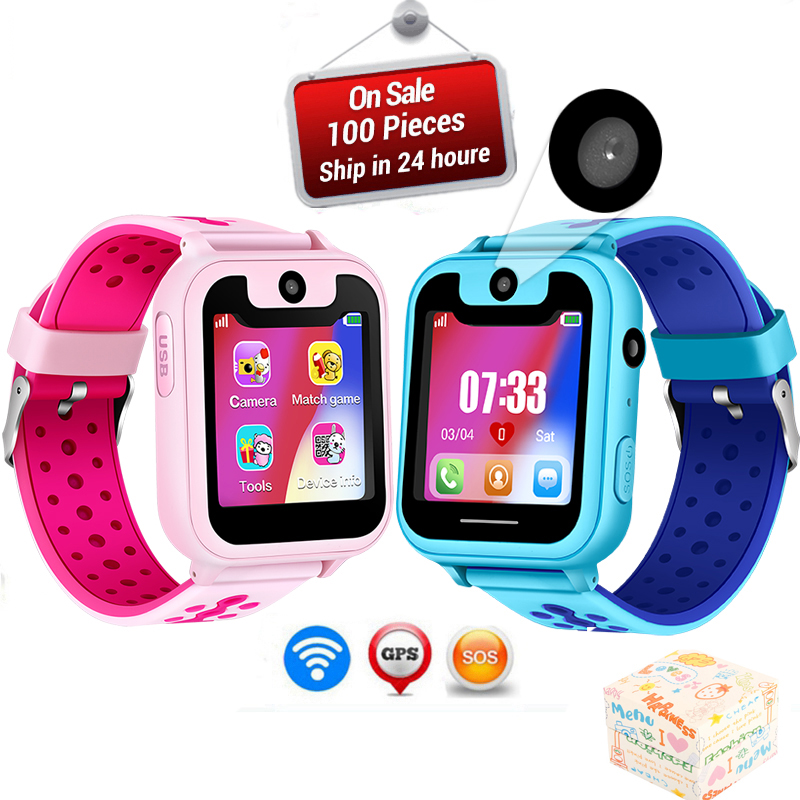 LIGE New Children Phone Watch LBS Positioning Remote Monitoring  Security Support SIM Card Anti lost Kids +Box