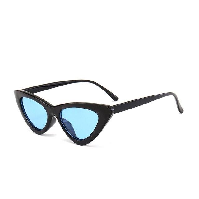 Peekaboo cute sexy retro cat eye sunglasses women small black white 2018 triangle vintage cheap sun glasses red female uv400 5