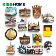 Famous Landmark Resin Refrigerator Stickers Magnetic Creative Country Decorative 3D Fridge Magnet