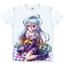 No Game No Life T shirts kawaii Japanese Anime t shirt Manga Shirt Cute Cartoon Sora