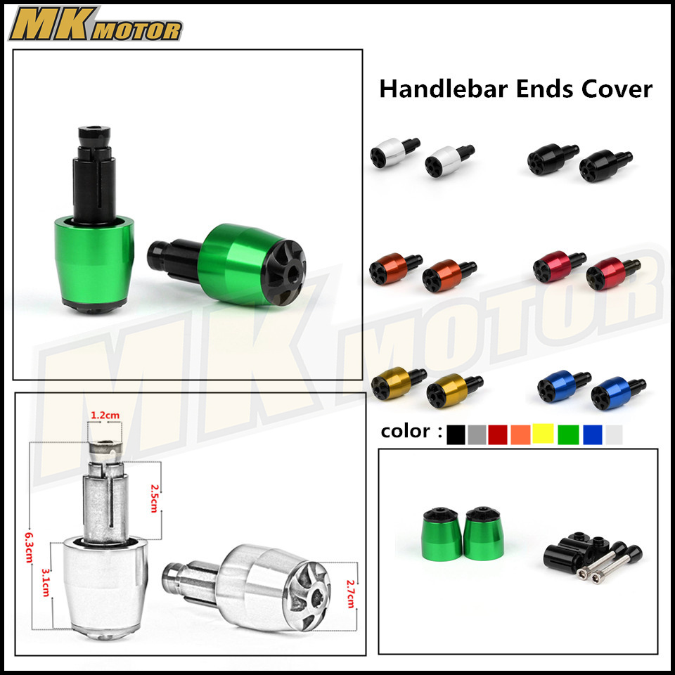 Motorcycle CNC Handlebar Grips Bar Ends Slider Cap Plugs Weights  For kawasaki Z900 Z650 Z1000 Z800 mz short universal aluminum alloy motorcycle handlebar ends caps plugs golden pair
