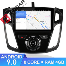 Isudar Car Multimedia player Android 9 Sistema di GPS 1 Din Stereo Per Ford/Focus 3 2012-2014 DSP radio FM Octa Core 4 GB di RAM 4G