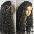 180% densidad rizado malasio virginal del pelo pelucas delanteras del cordón 28 pulgadas de largo rizado pelucas para mujeres negro largo natural de despedida peluca de pelo