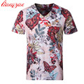 Men Printed T shirts Brand M-5XLPlus Size Summer Short Sleeve Casual Tees Slim Fit Cotton Modal Breathable Fashion Shirts F2150