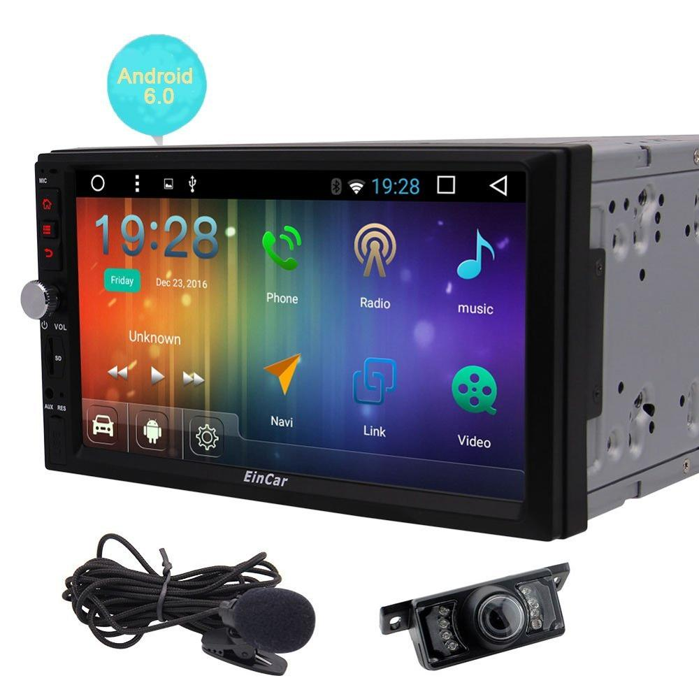 """Camera 10/"""" bluetooth Android Car Stereo Quad Core 2Din GPS Navigation Backup"""