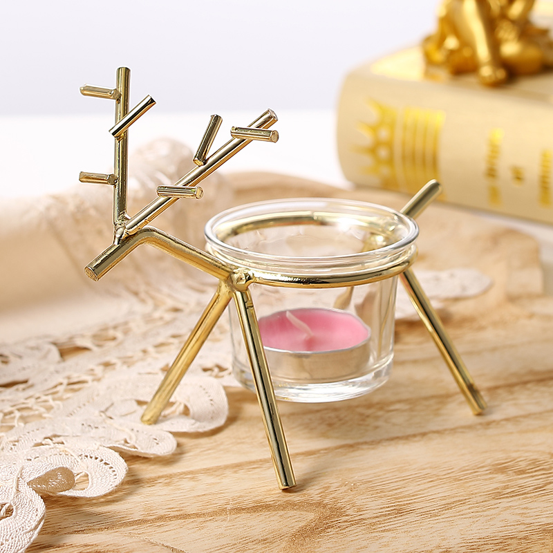 Christmas Reindeer Sleigh Candle Holder Candlestick Party Table Decor Iron Merry Christmas Party Supplies Drop Shipping Great Varieties Candle Holders