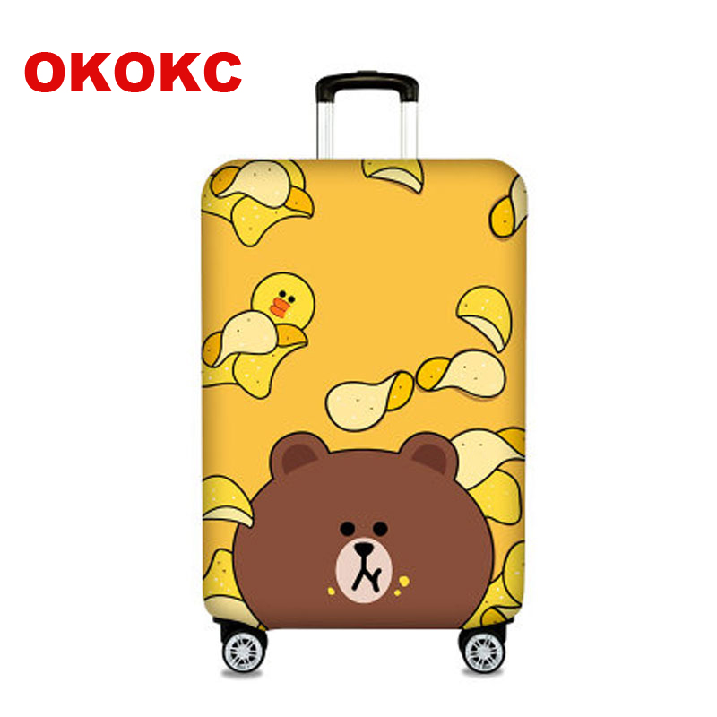 OKOKC Thickest Travel Potato Chips Luggage Suitcase Protective Cover For Trunk Case Apply To 19''-32'' Suitcase Cover Elastic