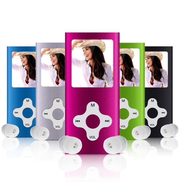 High Quality 8GB Slim Digital MP3 Player 1.8inch LCD Screen FM Radio Record USB Music Player With Earphone #SS