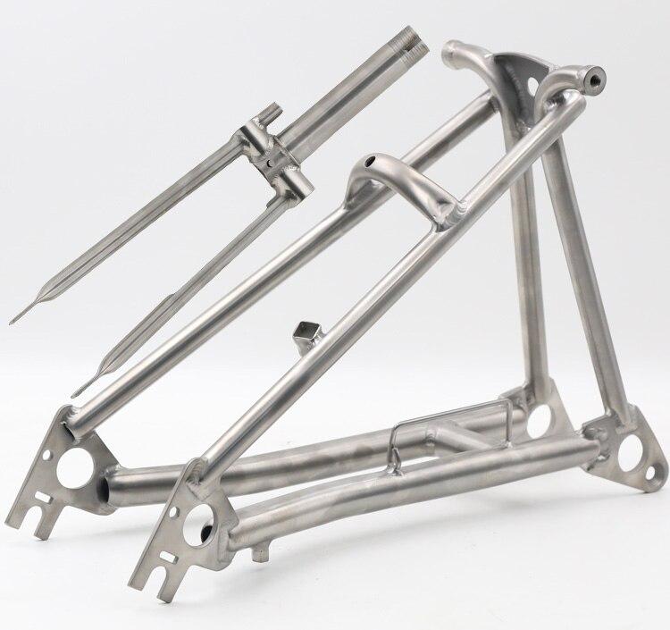 Fourche en titane pour vélo Brompton-1 & 1/8