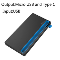 10000mAh 2 In 1 Input Micro USB And Type C Power Bank For Xiaomi Oneplus LG