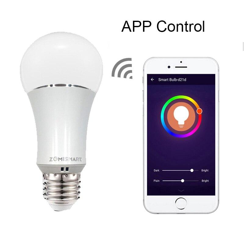 Zmismart 4 шт. светодиодная лампочка с регулированием яркости 6 Вт Wifi маленькие умные лампочки пульт дистанционного управления ColorfulWorks с Alexa Echo E26 E27 RGB IFTTT - 4