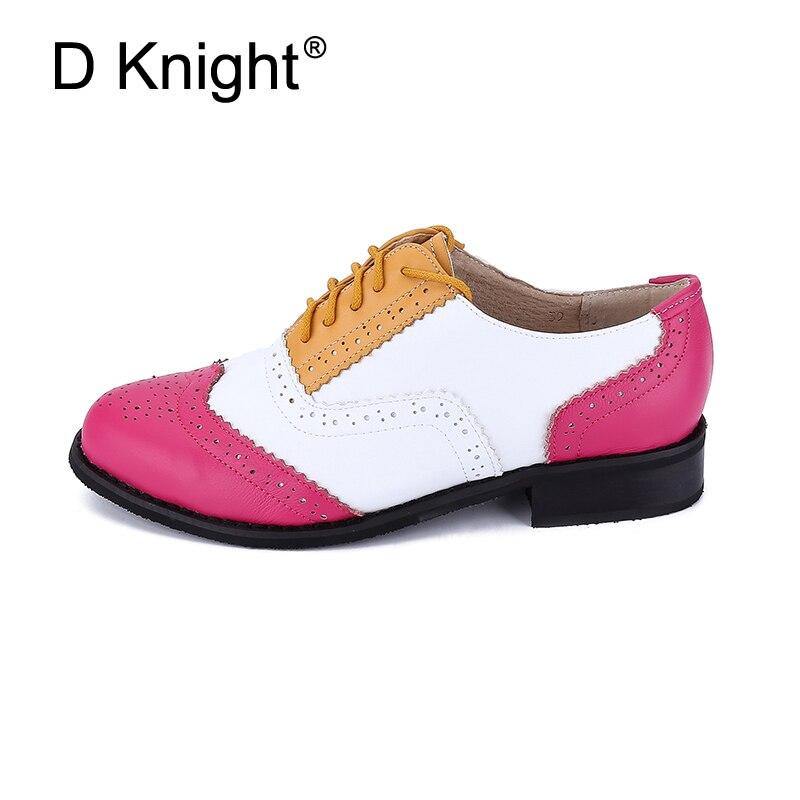 جديد المرأة ناتروال جلد شقة أكسفورد أحذية حذاء امرأة خمر جولة تو اليدوية مختلط الألوان أكسفورد أحذية للنساء 2018-في أحذية نسائية مسطحة من أحذية على  مجموعة 2