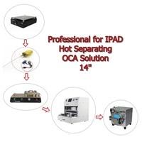 14 дюймовый ЖК ремонтный станок наборы! Горячий разделяющий ОСА раствор с ОСА ламинатор для IPAD