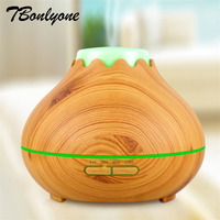 TBonlyone 400ML Wood Grain Ultrasonic Air Aroma Humidifier With 7 Color Light Electric Aromatherapy Essential Oil