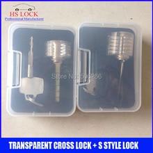 Cutaway Cruz Lock Habilidades de Formación Profesional Práctica Visible Bloqueo Candados Para Cerrajero herramientas con estuche