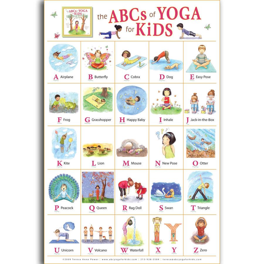 G1109 my abc alphabet yoga pose learning table children a4 art g1109 my abc alphabet yoga pose learning table children a4 art poster silk light canvas painting print posters home decor wall in painting calligraphy altavistaventures Images