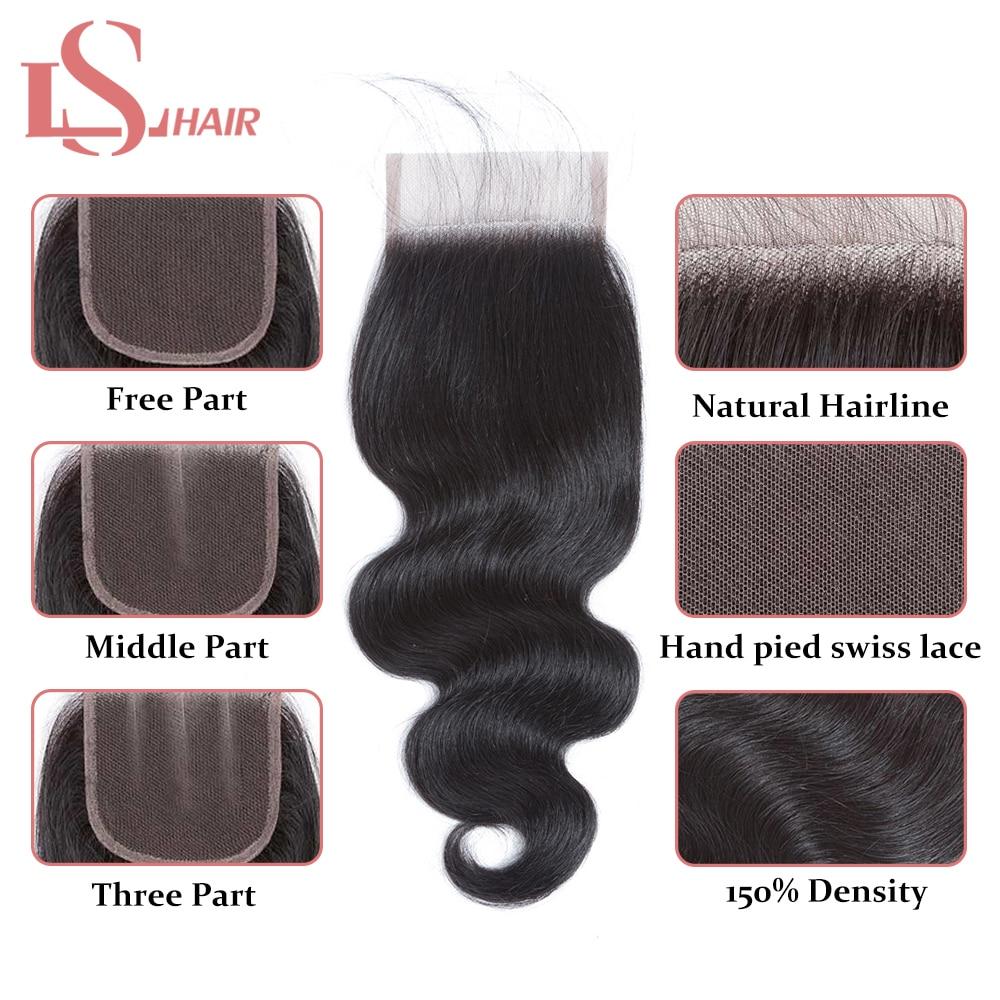 Mornice Brasiilia keha laine 3 kimbud juuksekudumisega - Inimeste juuksed (must) - Foto 3