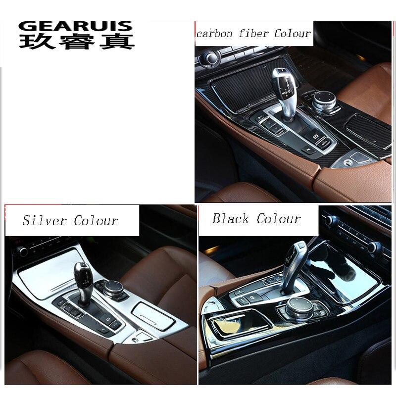 Car styling Console Pannello Telaio di Copertura Trim Supporto di Tazza di Acqua Decorazione Autoadesivo Per BMW serie 5 F10 Accessori Auto Per Interni - 3