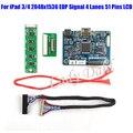 Mini HDMI LVDS Плате Контроллера для iPad 3 4 9.7 дюйм(ов) разрешение 2048x1536 EDP Сигнала 4 Полос 51 Пальцы ЖК-Дисплей Панели