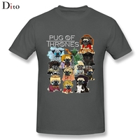 Funny Pug Game Of Thrones T Shirt For Men Fashion Short Sleeve Crewneck Cotton Big Size