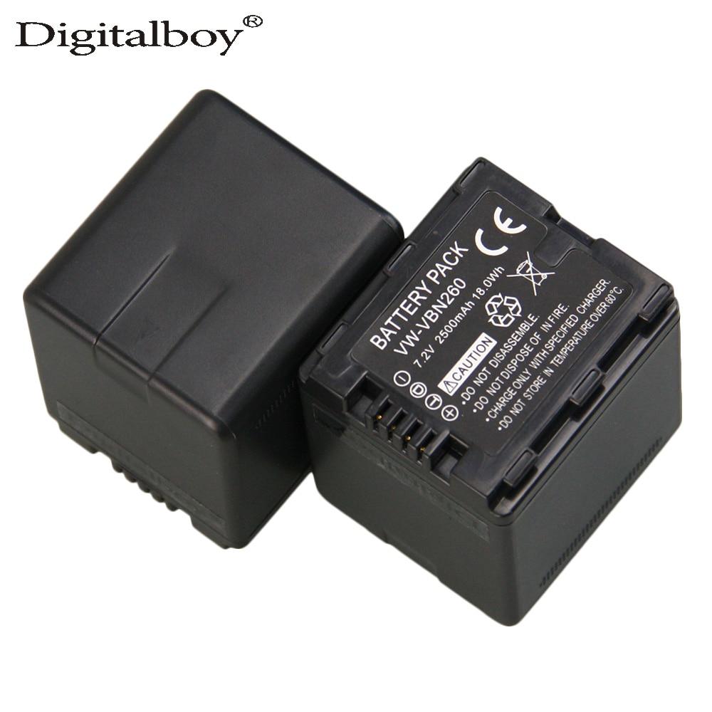 Wholesales 2pcs Lot VW VBN260 VW VBN260 VW VBN260 Replacement Digital Camera Battery For Panasonic HDC