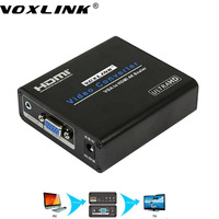VOXLINK 4Kx2K VGA To HDMI Scaler Converter Audio Video Adapter With Update Zoom Function For Monitor