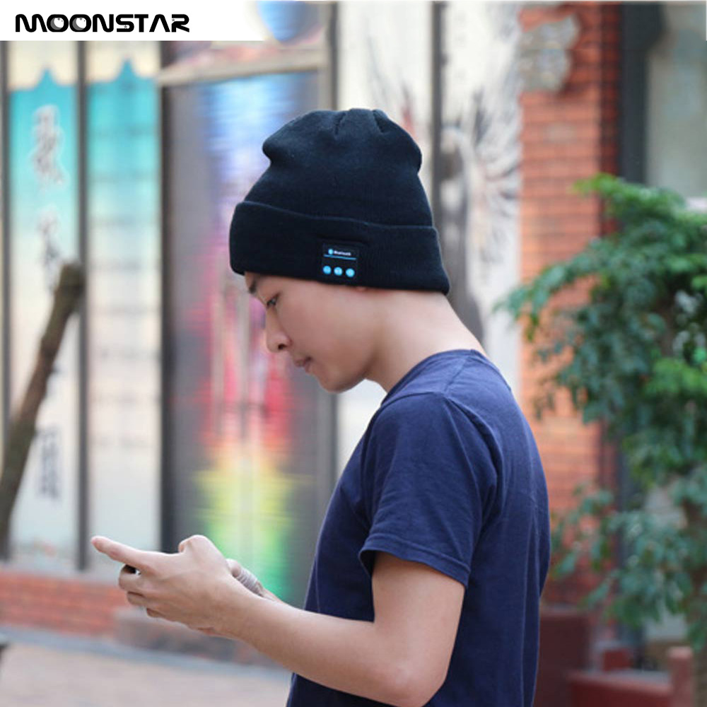 Wireless Bluetooth Headset Knit Hats Headphone fashion Music Player Hat Earphone Beanie hat headphone gift for xiaomi iPhone PC built clear new hat knitted fashion knit hats winter hat caps skullies hat for men women beanie casual hot baggy inflatable