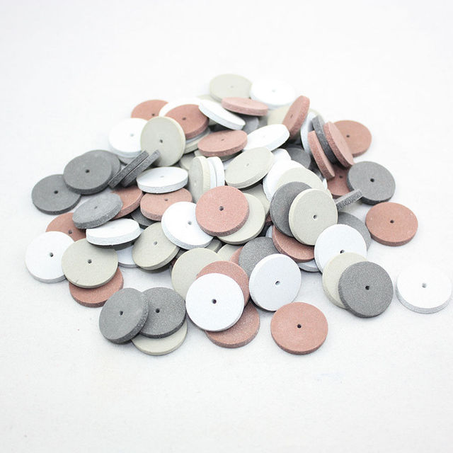 200 PCS Mixed Silicone Rubber Polishing wheels for Dental Jewelry Rotary Tool