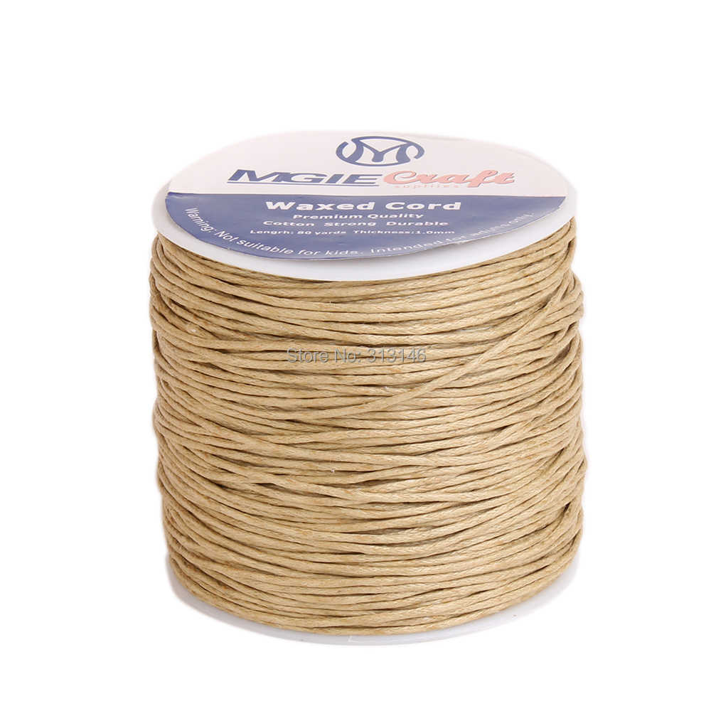 50 kolorów 100 jardów woskowany sznurek bawełniany 1mm nici ciąg liny szpula drutu fit rzemiosło koralki DIY bransoletka naszyjniki biżuteria ustalenia