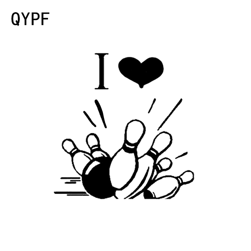 qypf 13 8 14 4cm bowling car stickers graphic silhouette bumper