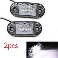 2 uds. 12 V/24 V luces LED de posición lateral para coche luces exteriores luz trasera de advertencia Auto remolque camión lámparas de color blanco