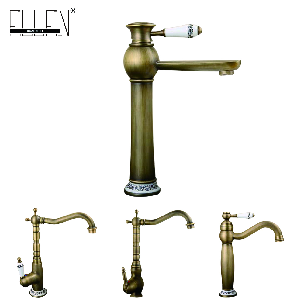 Antique Copper Faucet Rustic Bathroom Sink Tap Antique Brass Kitchen Faucets Torneiras Para Pia